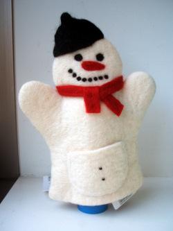 クリスマスのかわいいスノーマンパペット